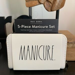 Rae Dunn MANICURE 5pc Set, perfect for on the go!!